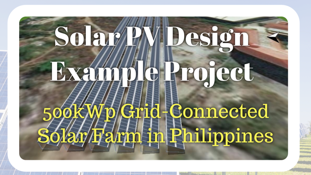 Solar PV Design Example Project