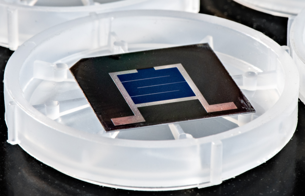solar cell in the lab