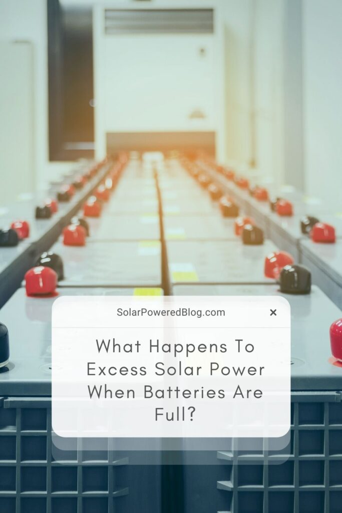off grid solar batteries and excess solar energy